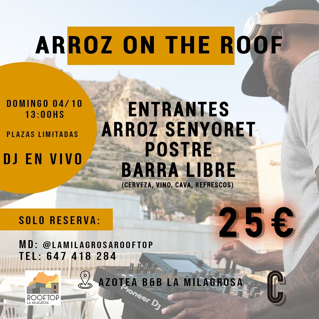 Arroz on the roof